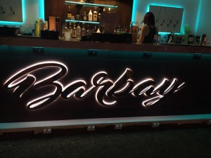 Stainless Steel Fabricated Reverse Channel Lettering With LED Lighting