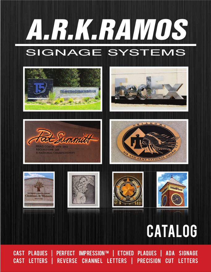 ARK Ramos Architectural Signage Systems Oklahoma Foundry Plaque Experts Catalog