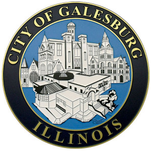 City of Galesburg Etched Plaque