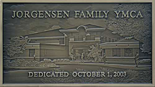 Jorgensen Family YMCA plaque