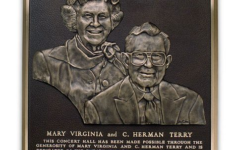 Terry Concert Hall Cast Plaque